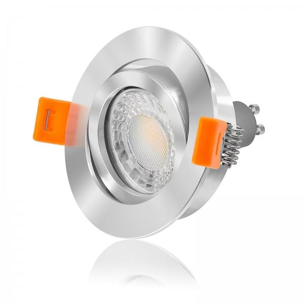 4260404788416 Ledox LED Set Einbaustrahler rund chrom 68mm 3000K warmweiß 7W Variante