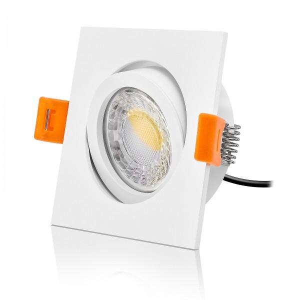 LED Einbaustrahler Set dimmbar & schwenkbar inkl. Einbaurahmen 230V 7W Modul 24mm ultra flach