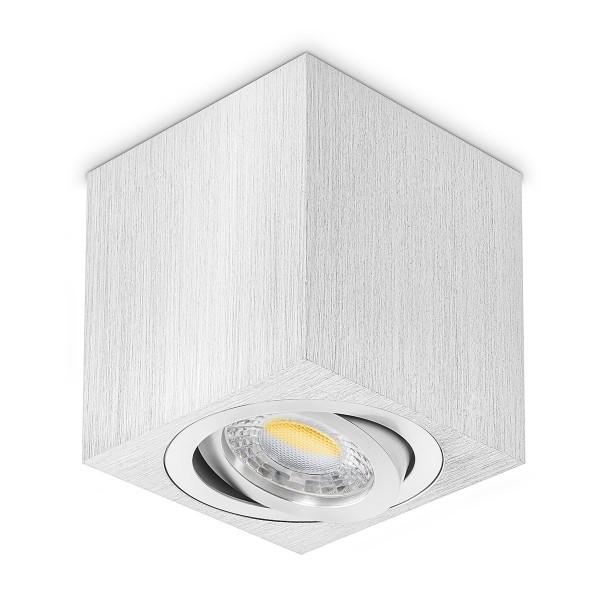 LED Aufbaustrahler inkl. LED Leuchtmittel GU10 I 230V schwenkbar I Deckenleuchte Deckenlampe Lampe Aufbaulampe Leuchte Aufbauleuchte