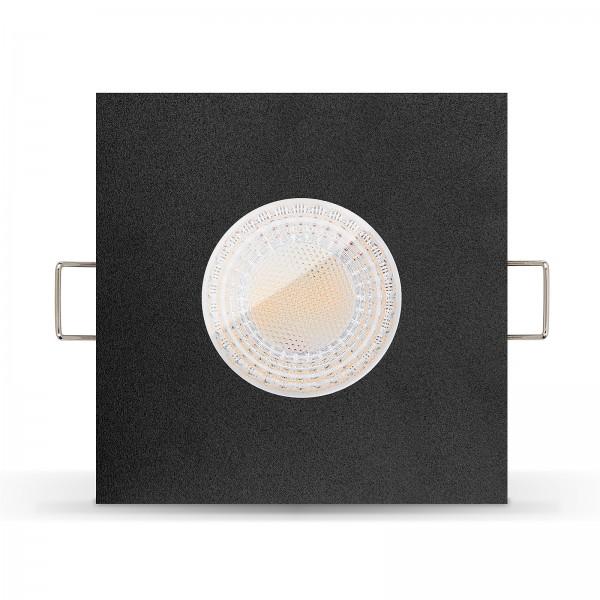 LISTA AQUA LED Bad Feuchtraumleuchte IP65 dimmbar inkl. Einbaurahmen 230V 7W GU10 Feuchtraum Ra>93