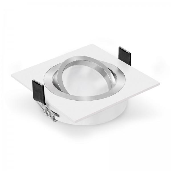 LED Einbaustrahler Set von LEDOX - dimmbar und schwenkbar inkl. Einbaurahmen Bicolor weiß 230V 10W Modul