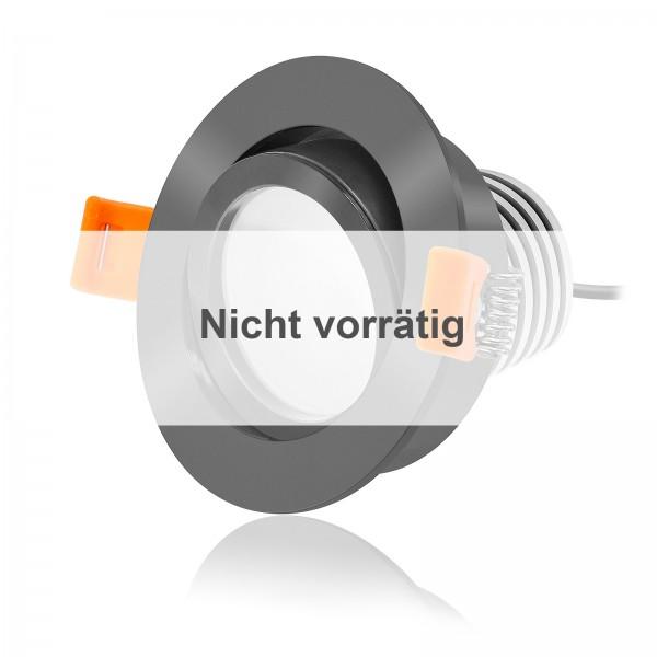 FORMA RA LED Einbaustrahler Set dimmbar & schwenkbar inkl. Einbaurahmen anthrazit 230V 10W Modul