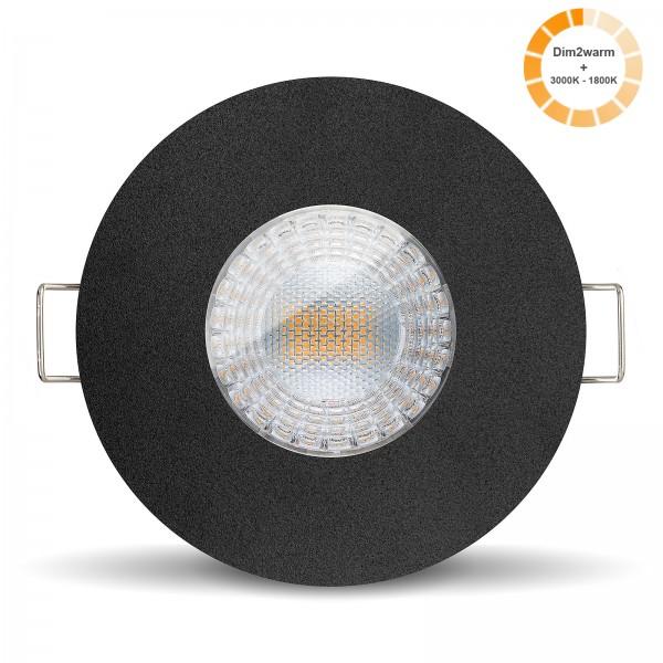 Bad LED Einbaustrahler Set Modul 1800k - 3000K I 230V nur 30mm flach dimmbar 7W - front