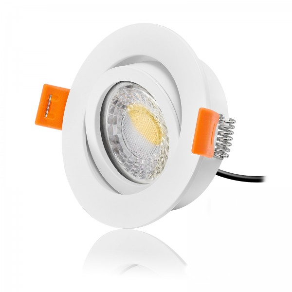 FORMA RW LED Einbaustrahler Set dimmbar & schwenkbar inkl. Einbaurahmen 230V 7W Modul flach Ra>90