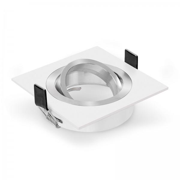 Einbaurahmen Bicolor von Ledox weiß eckig I Einbaustrahler geeignet für Led & Halogen Leuchtmittel Einbauleuchte Deckenleuchte