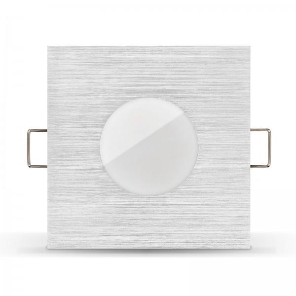 LISTA AQUA LED Bad Einbaustrahler Set IP65 dimmbar inkl. Einbaurahmen gebürstet 230V 7W Modul inkl. Mini Trafo Ra>90