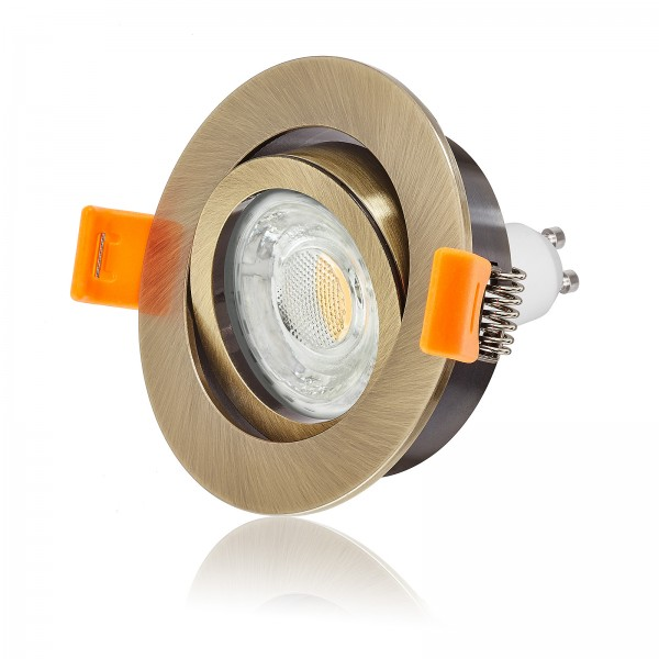 LED Einbaustrahler Set dimmbar & schwenkbar inkl. Premium Einbaurahmen Forma 230V 10W GU10 3000k