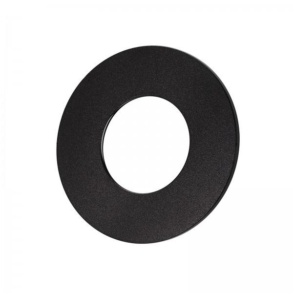 Lista Aqua Einzelblende schwarz aus Aluminium rund passend für Lista Aqua Modul IP65