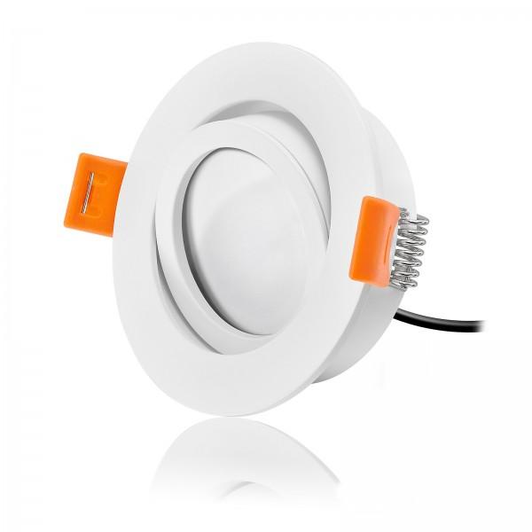 FORMA RW LED Einbaustrahler Set dimmbar & schwenkbar inkl. Einbaurahmen 230V 7W Modul flach