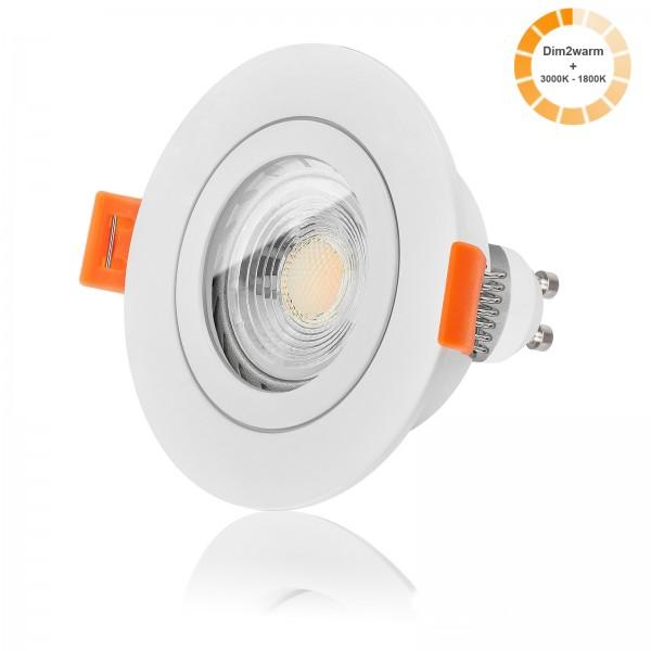 FORMA RW AQUA LED Bad Einbaustrahler Set IP44 dimmbare Farbtemperatur 1800K-3000K dim2warm 7W GU10