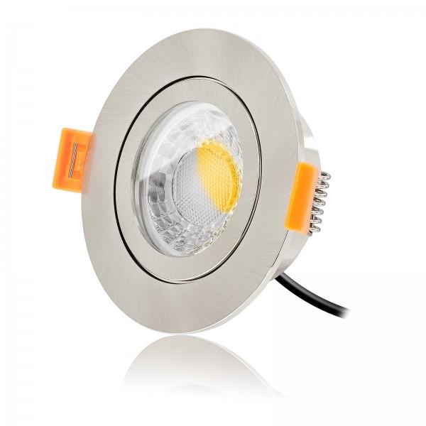 LED Bad Einbauspot Set IP44 dimmbar inkl. Forma Aqua Einbaurahmen 230V 7W Modul extra flach