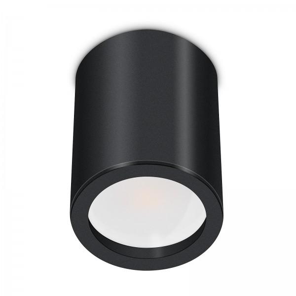 Tube Pure Aufbauleuchte - 230V 7W GU10 120° AW - dimmbar - Aufbaurahmen schwarz Aluminium 10cm