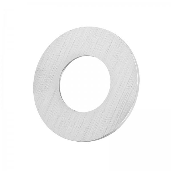 Lista Aqua Einzelblende gebürstet aus Aluminium rund passend für Lista Aqua Modul IP65