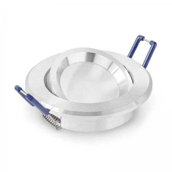LED Einbaustrahler Set dimmbar inkl. Einbaurahmen | 230V 11W 50mm EXTRA FLACH & HELL Deckenleuchte