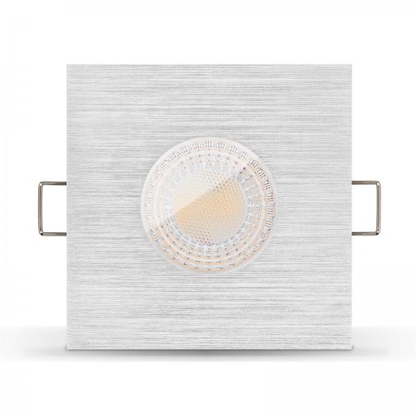 LISTA AQUA LED Bad Einbaustrahler IP65 dimmbar inkl. Einbaurahmen gebürstet 230V 7W GU10 Ra>93