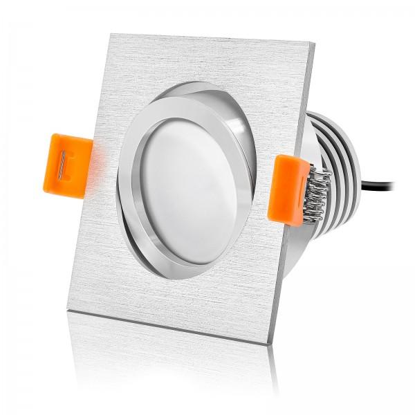 LED Einbaustrahler Set dimmbar & schwenkbar inkl. Einbaurahmen Forma E 230V 10W Modul mit Ra>90