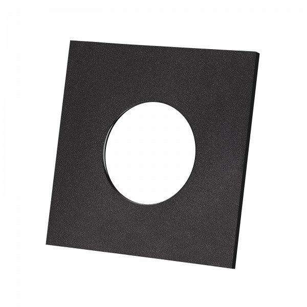Lista Aqua Einzelblende schwarz aus Aluminium eckig quadratisch passend für Lista Aqua Modul IP65