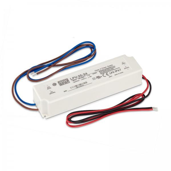 Led Trafo von Mean Well 35W nicht dimmbar Konstantspannung Überlastschutz 0 - 1.5 A 24 V/DC