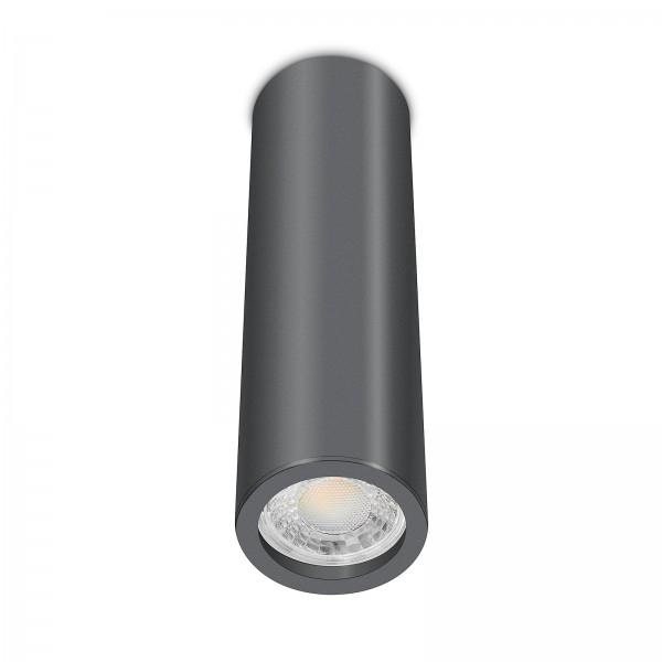 Tube Pure Aufbauleuchte - Aufbaurahmen anthrazit Aluminium 24cm 230V 7W GU10 3000K