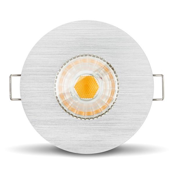 Led Feuchtraumleuchte IP65 6W COB gebürstet für Bad Dusche Feuchtraum GU10