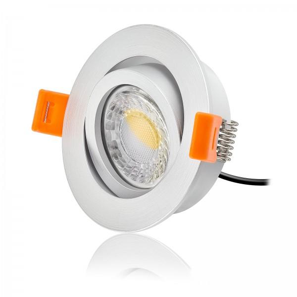 LED Einbaustrahler Set dimmbar & schwenkbar inkl. Einbaurahmen Forma RM 230V 7W Modul mit Ra>95