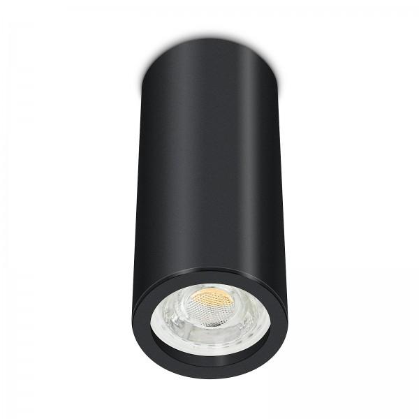 Tube Pure Aufbauleuchte - Aufbaurahmen schwarz Aluminium 17cm 230V 10W GU10 3000K