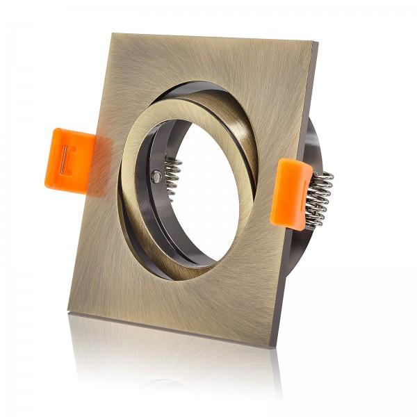 Forma Premium Einbaurahmen / Einbaustrahler bronze messing gold schwenkbar mit 68mm Lochauschnitt