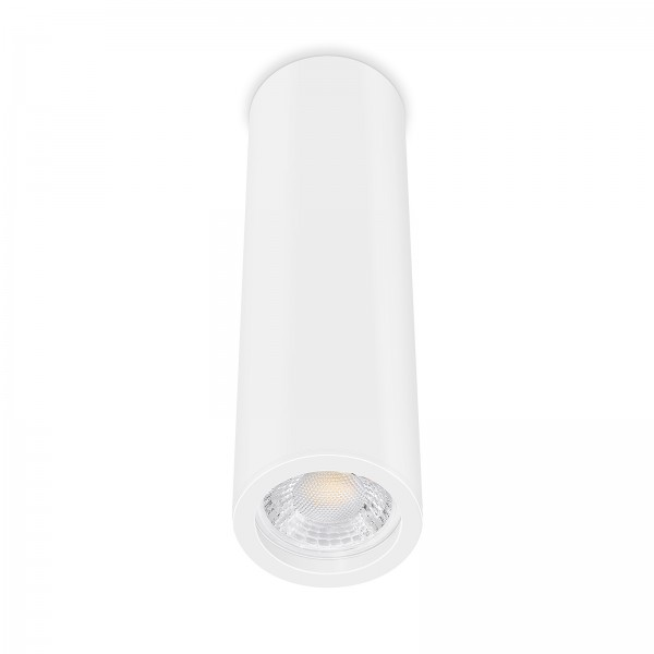 Tube Pure Aufbauleuchte - Aufbaurahmen weiß Aluminium 24cm 230V 7W GU10 dimmbar mit 93 Cri