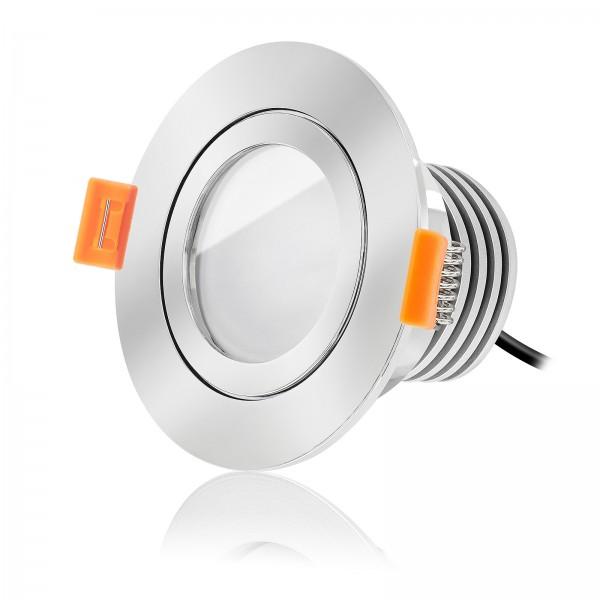 FORMA RC AQUA LED Bad Einbaustrahler Set IP44 dimmbar inkl. Einbaurahmen chrom 230V 10W Modul