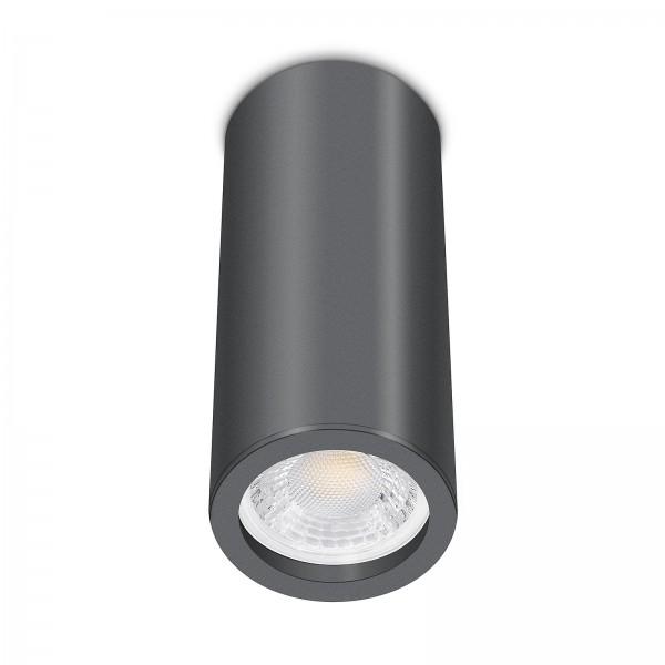 Tube Pure Aufbauleuchte anthrazit Aluminium 17cm 230V 7W GU10 VOLLSPEKTRUM Led dimmbar mit Ra>98