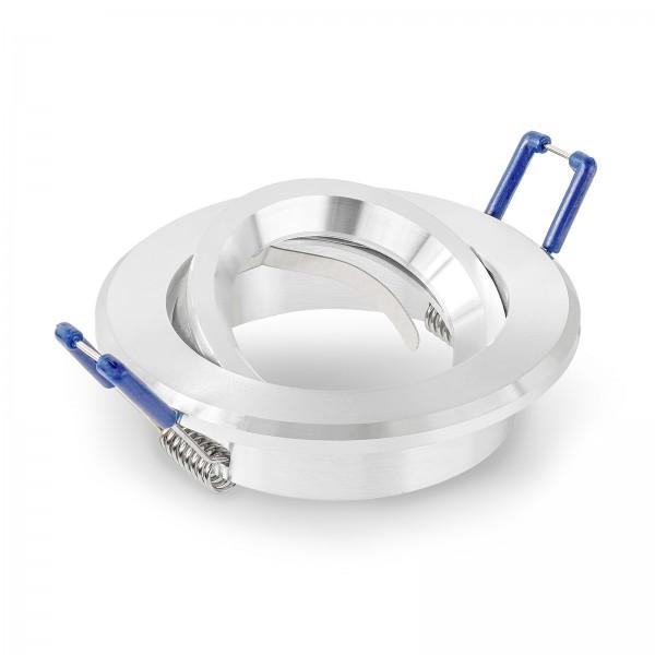 Einbaurahmen aus Aluminium in rund schwenkbar geeignet für Led & Halogen Leuchtmittel