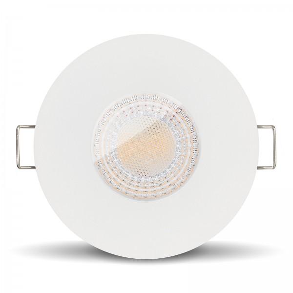 Ledox Led Feuchtraumleuchte IP65 7W GU10 COB weiß für Bad Dusche Feuchtraum