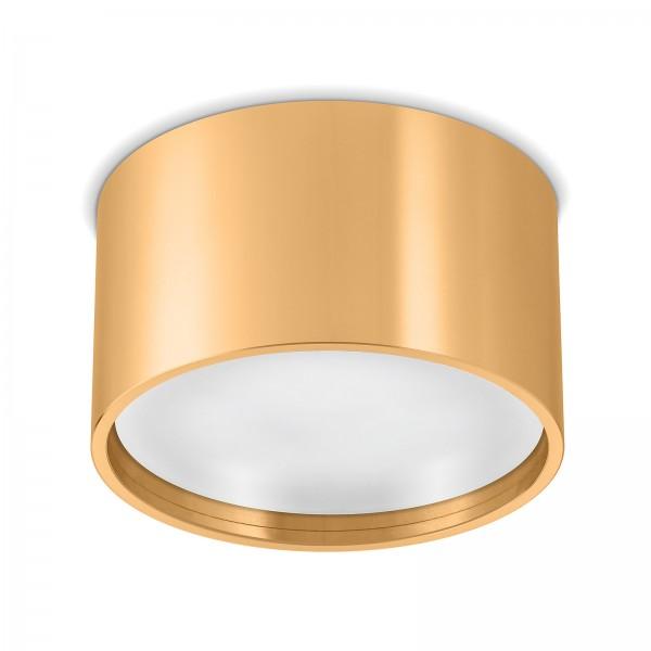 Led Aura Aufbaustrahler Set GX53 gold/ messingoptik inkl. 9W Leuchtmittel tageslichtweiß