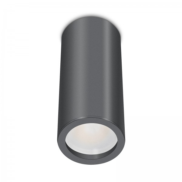 Tube Pure Aufbauleuchte - 230V 6W Modul dimmbar - Aufbaurahmen anthrazit Aluminium 17cm