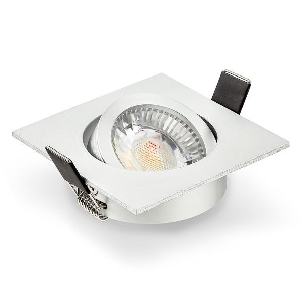 LED Einbaustrahler Set dimmbar & schwenkbar inkl. Einbaurahmen 230V 6W GU10 Deckenleuchte Ra>90