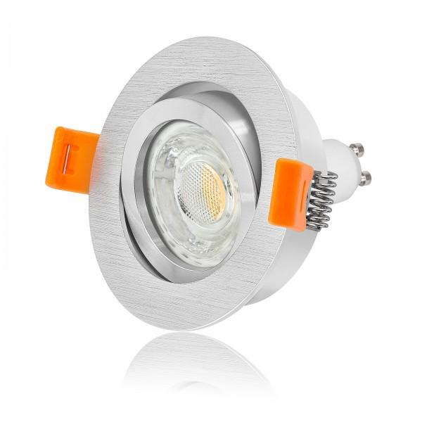 FORMA R LED Bicolor Einbaustrahler Set dimmbar & schwenkbar inkl. Einbaurahmen Ring poliert 230V 10W GU10