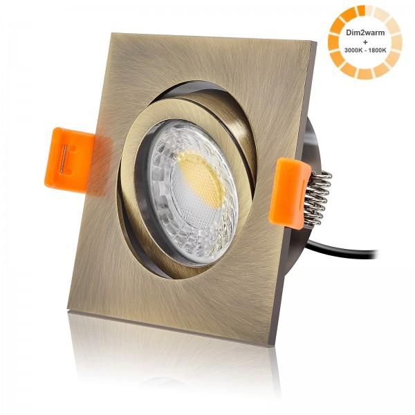 FORMA EB LED Einbaustrahler Set dimmbare Farbtemperatur 1800K-3000K inkl. Premium Einbaurahmen 230V