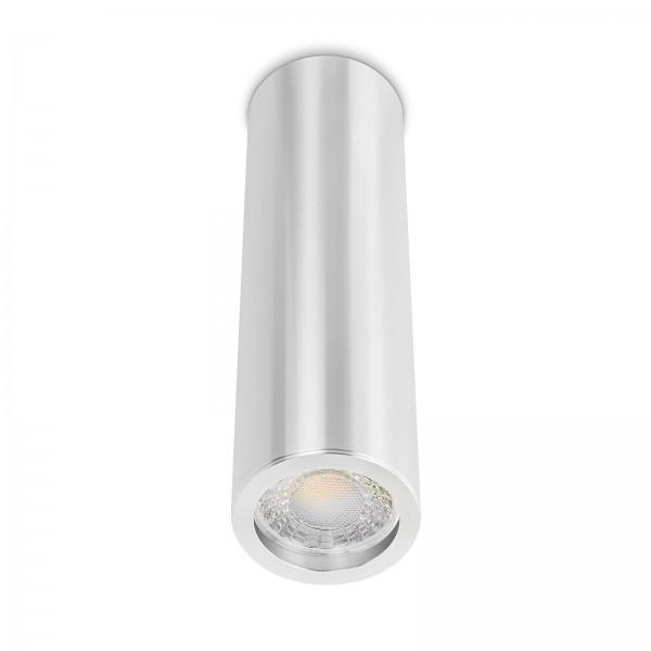 Tube Pure Aufbauleuchte - Aufbaurahmen silber poliert Aluminium 24cm 230V 7W dimmbar 60° Abstrahlung 90 CRI