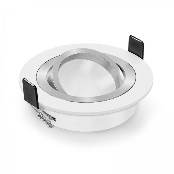 LED Einbaustrahler Set dimmbar & schwenkbar inkl. Einbaurahmen Bicolor 230V 6W Modul