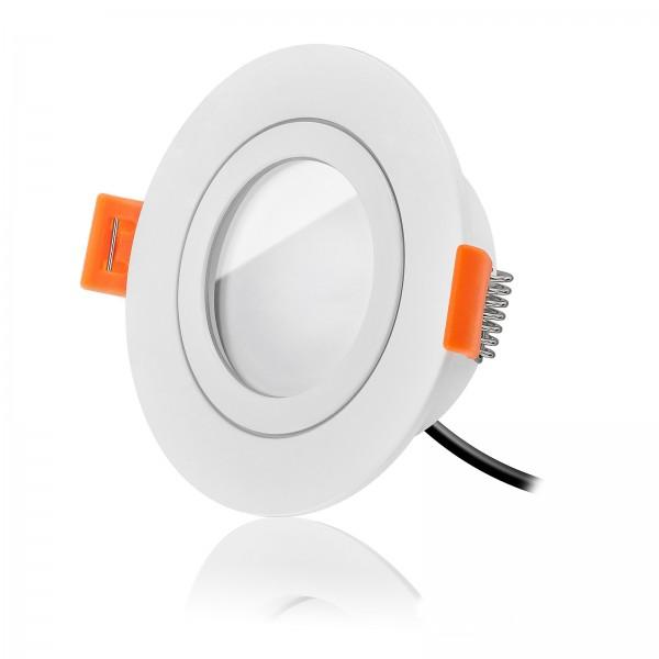 Aqua Forma RW Einbaustrahler Set IP44 dimmbar inklusive Einbaurahmen weiß 230V 6 Watt Modul flach