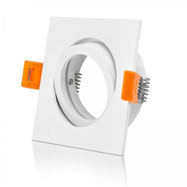 Forma-EW Premium Einbaurahmen / Einbaustrahler in eckig weiß schwenkbar mit 68mm Lochausschnitt (Standard)