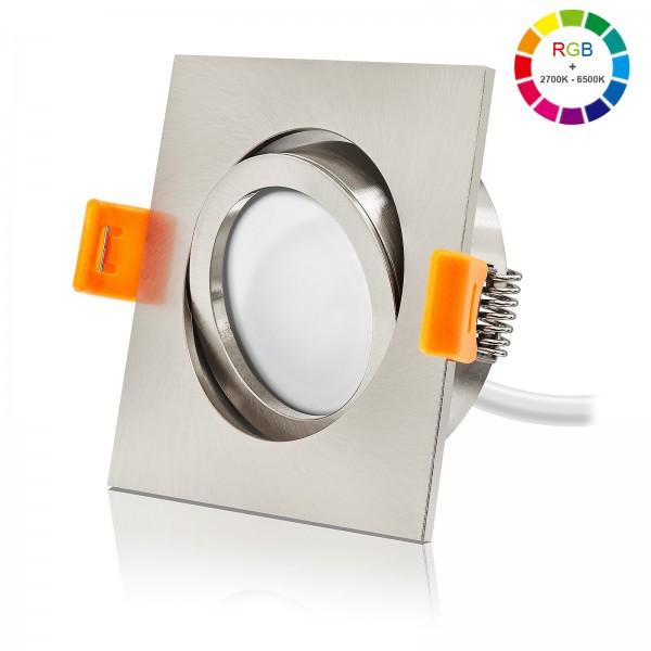 Ledox RGB Led Einbaustrahler Set dimmbar schwenkbar & austauschbar inkl. Einbaurahmen Forma EE 230V 6W Modul inkl. Trafo Alle Farben