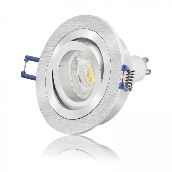 LED Einbaustrahler Set dimmbar & schwenkbar inkl. Bicolor Einbaurahmen 230V 10W GU10 3000k warmweiß 820 Lumen
