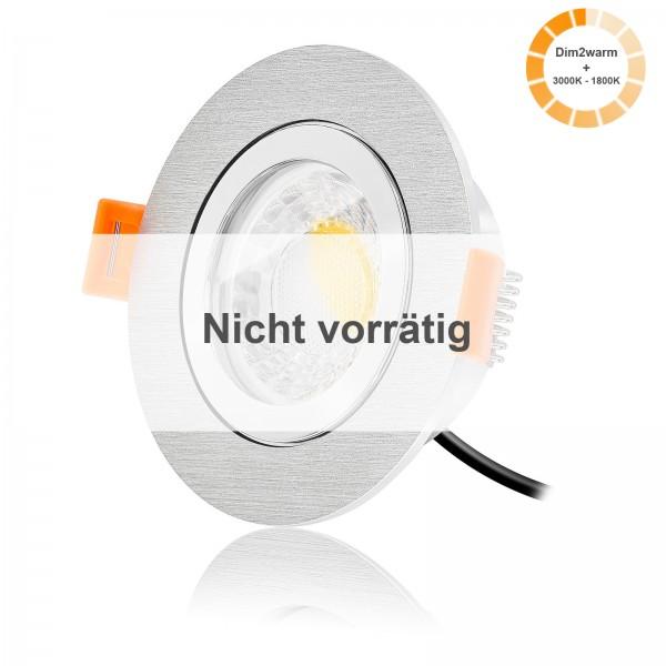 LED Bad Einbaustrahler Set IP44 dimmbare Lichtfarbe 1800K-3000K inkl. Forma Aqua R Einbaurahmen 230V 7W Modul warmweiß