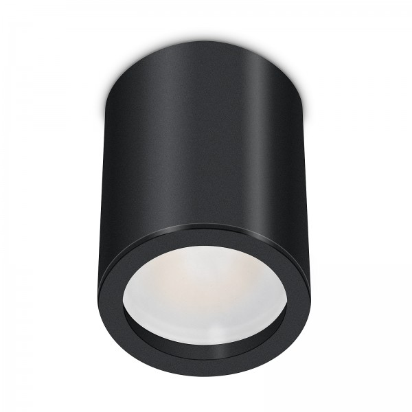 Smart Home Tube Pure LED Aufbauleuchte schwarz 10cm 24V 6W - 120° KNX DALI GOOGLE HUE