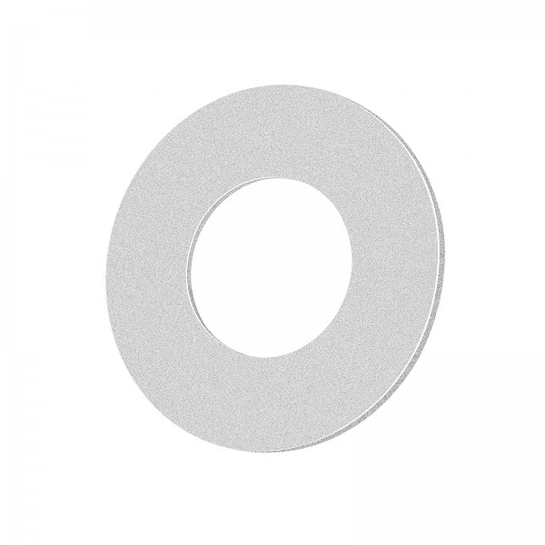Lista Aqua Einzelblende sandgestrahlt silber aus Aluminium rund passend für Lista Aqua Modul IP65