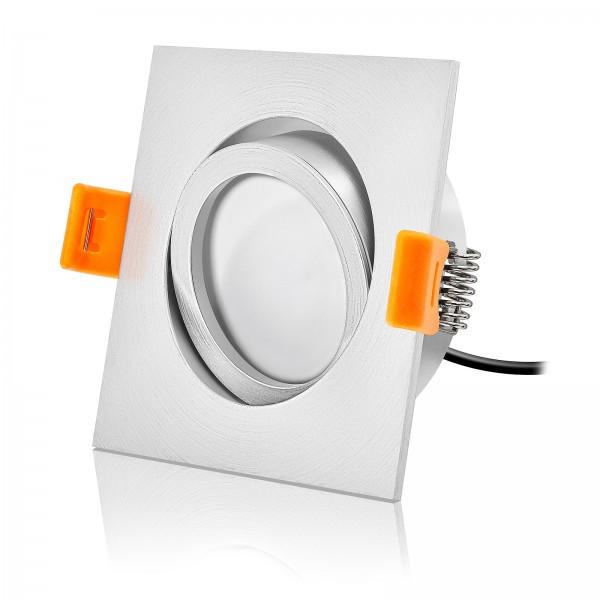 FORMA EM LED Einbaustrahler Set dimmbar & schwenkbar inkl. silber matt Einbaurahmen 230V 6W Modul