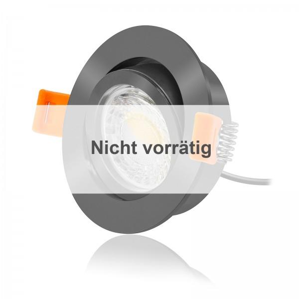 FORMA RA LED Einbaustrahler Set dimmbar & schwenkbar inkl. Einbaurahmen anthrazit 230V 7W Modul
