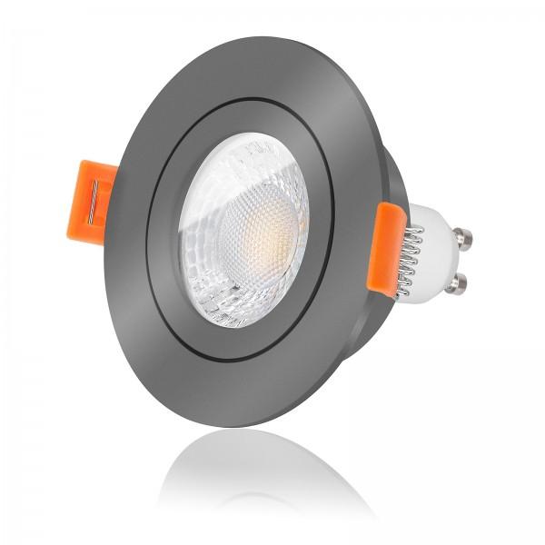 FORMA AQUA RA LED Bad Einbaustrahler Set IP44 dimmbar inkl. Einbaurahmen 230V 7W GU10 mit Ra>93